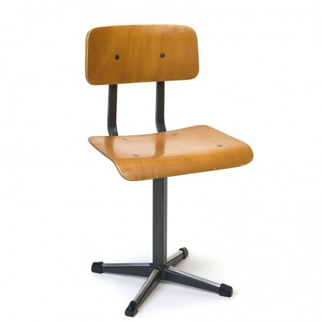 Industrial vintage child's chair blank wood