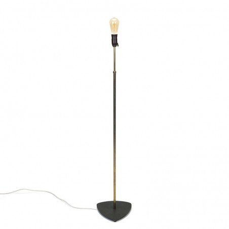 Vintage 1950s Danish floor lamp in brass