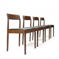 Set of 4 luxury Danish teak vintage dining table chairs