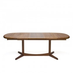 Large model oval vintage design dining table in teak