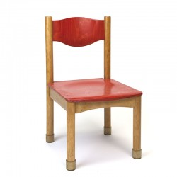 Wooden school chair by Schilte