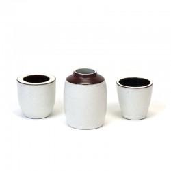 Miniature set of 3 vintage Ravelli vases