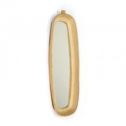 Vintage bamboo mirror from the sixties