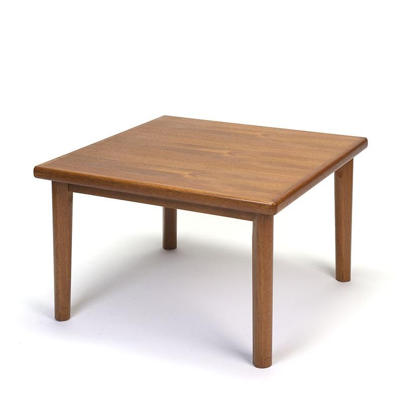 Deense teakhouten vierkant model vintage salontafel