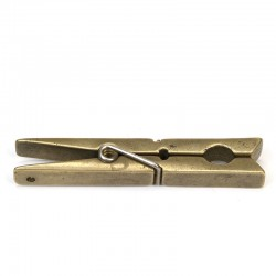 Brass object vintage clothespin