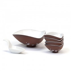 Earthenware vintage peanut set from the fifties / sixties