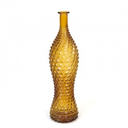 Vintage Italian ocher colored carafe or bottle