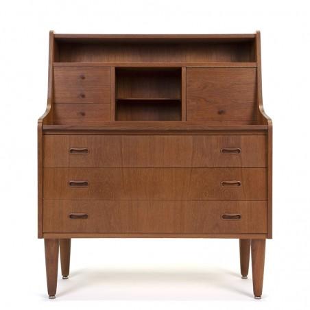 Teak Danish mid-century vintage secretaire