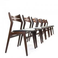 Set van 6 vintage model 310 stoelen design Erik Buck