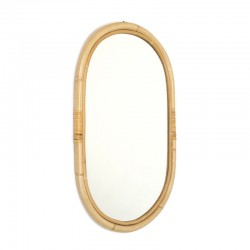 Vintage mirror with bamboo edge