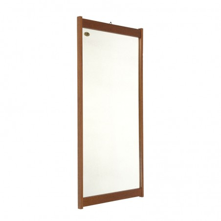 Danish teak mirror from the AM-spejle factory Silkeborg