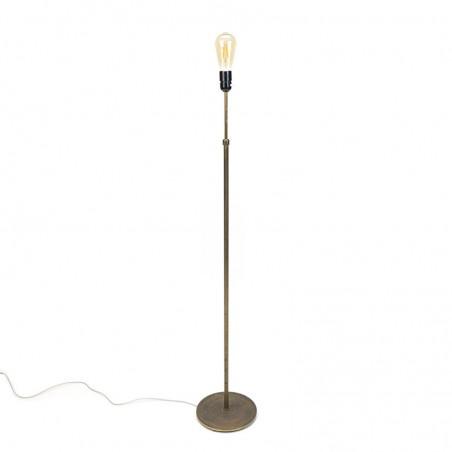 Messing minimalistische vintage Deense vloerlamp