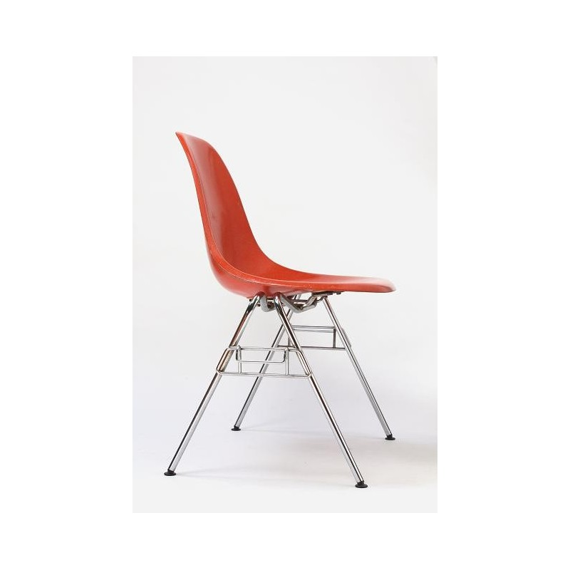 Eames DSS chair in orange