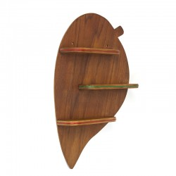 Danish vintage wall panel in the shape of a leaf