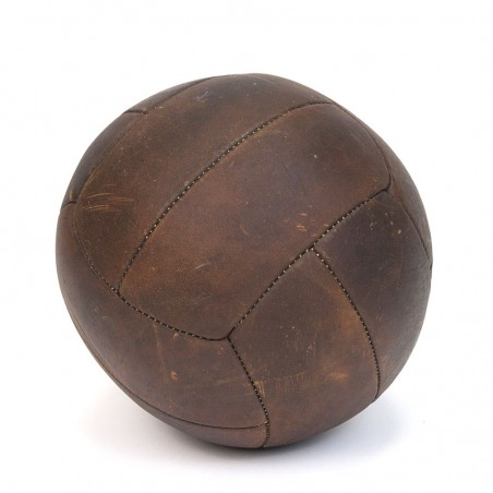 Vintage leather medicine ball from the forties / fifties