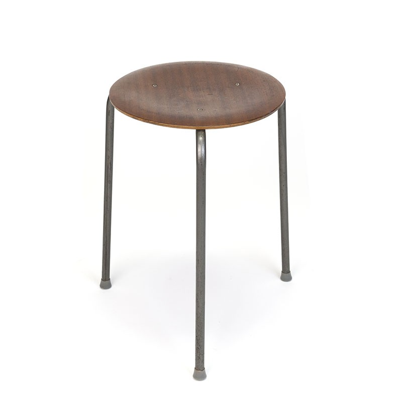 Vintage stool with design in the style of Arne Jacobsen
