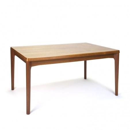Danish vintage dining table design Henning Kjaernulf for Vejle