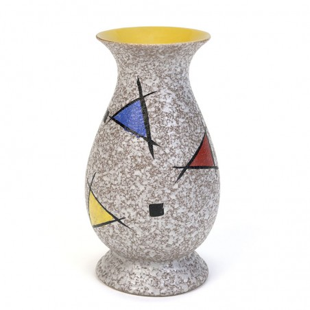 Vintage vase with primary colors