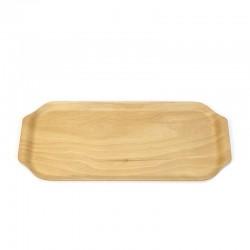 Zweedse vintage berkenhouten plywood dienblad