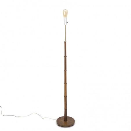 Deense vloerlamp in teakhout vintage model