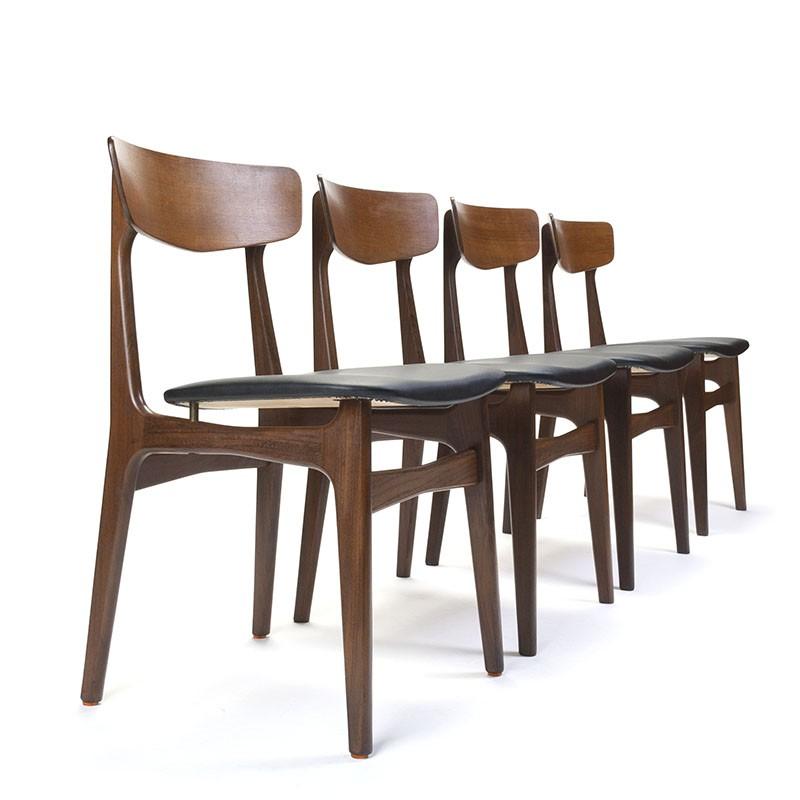 Danish set of 4 vintage Schiønning and Elgaard chairs in teak