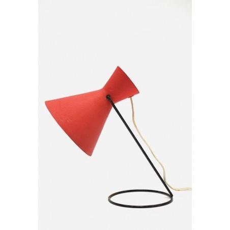 Tafellamp jaren 50/60 op ronde voet
