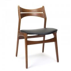 Erik Buck model 301 vintage teakhouten eettafel stoel