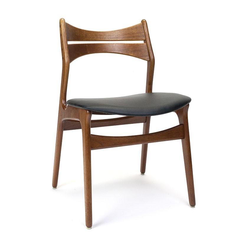 Erik Buck model 301 vintage teak dining table chair
