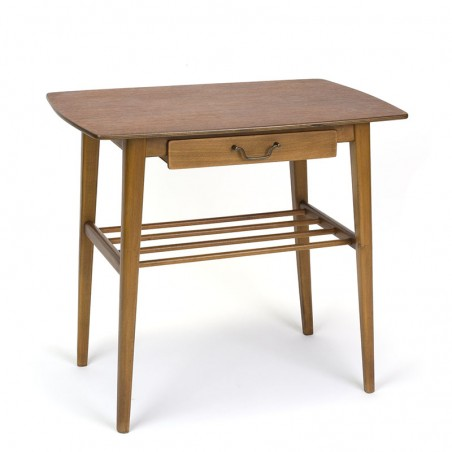 Danish side table or bedside table vintage model with drawer