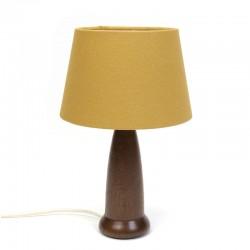 Deens vintage tafellampje met teakhouten voet
