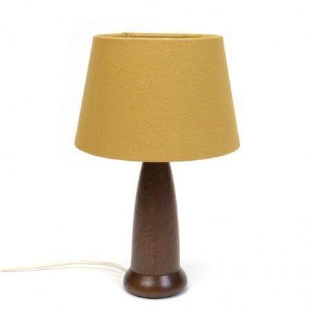 Danish vintage table lamp with teak base