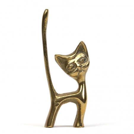 Brass small vintage cat
