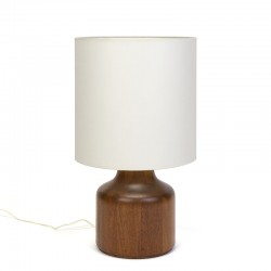 Large model Danish solid teak vintage table lamp