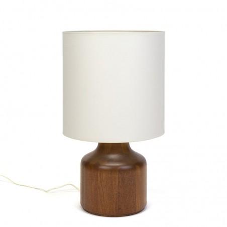 Groot model Deense massief teakhouten vintage tafellamp