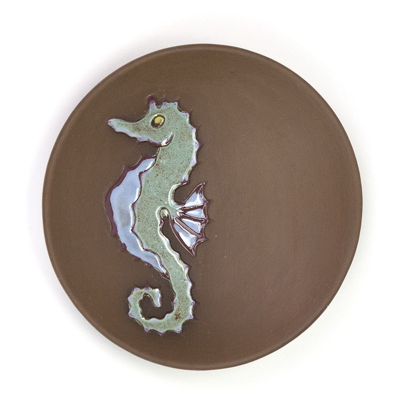 Miniature vintage wall bowl with Seahorse
