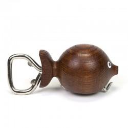 Teak vintage Danish opener in fish shape