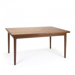 Rectangular extendable Danish vintage dining table
