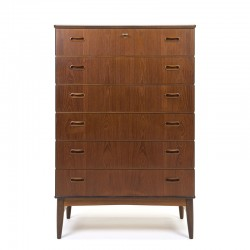 Mid-century Danish vintage chest of drawers in teak