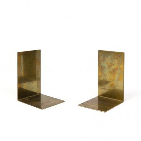 Set of brass vintage bookends