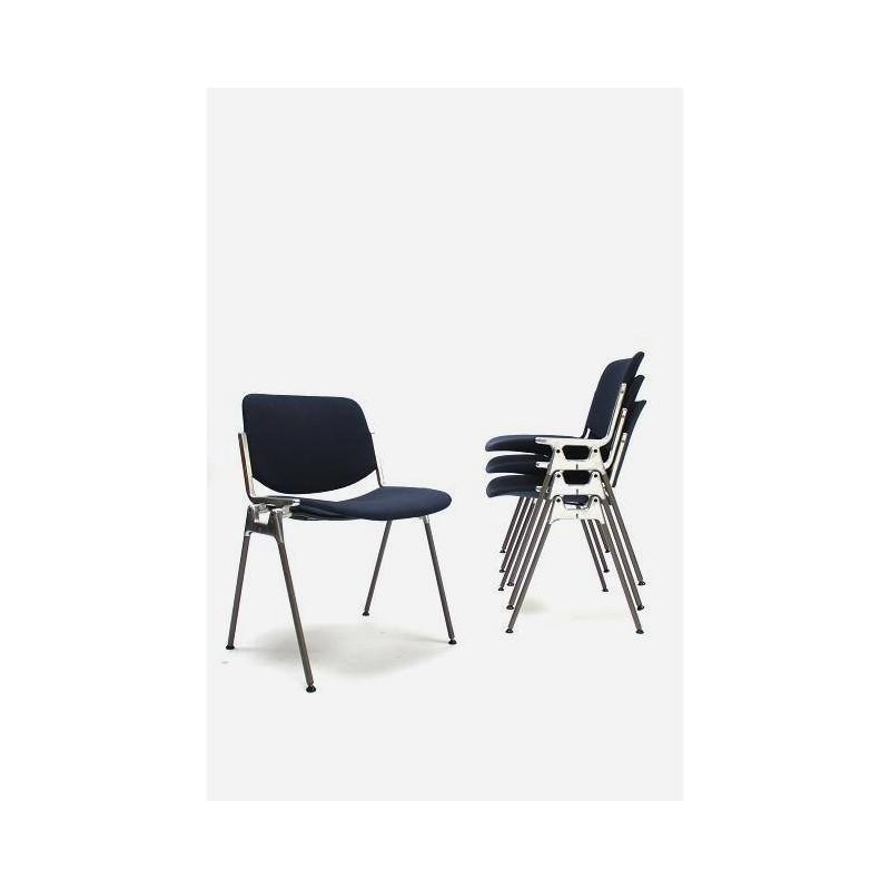Castelli stoel donker blauw set van 4