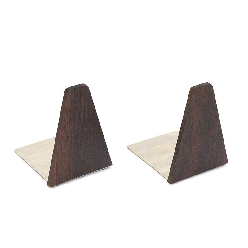 Vintage set of 2 rosewood bookends