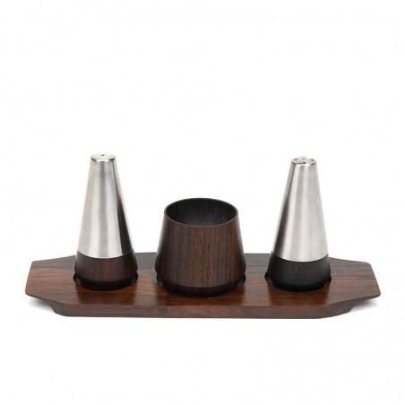 Rosewood vintage salt and pepper set