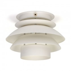 Danish vintage ceiling lamp with white discs