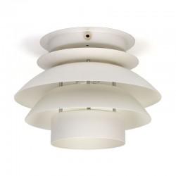 Deense vintage plafondlamp met witte schijven
