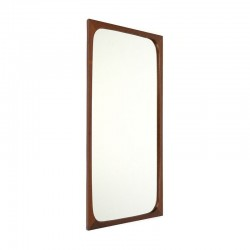 Teak mirror from the sixties Danish vintage design