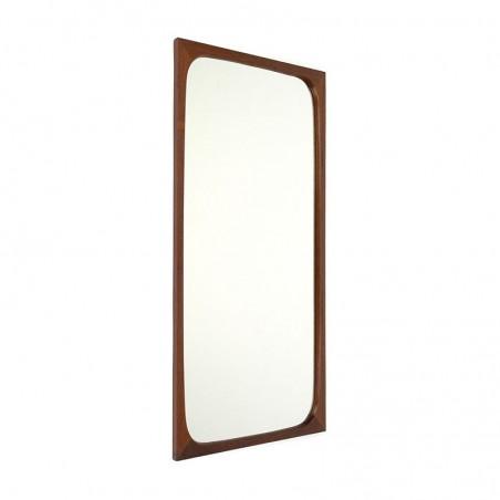 Teak mirror from the sixties Danish vintage design