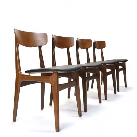 Vintage Danish set of 4 Schiønning and Elgaard chairs