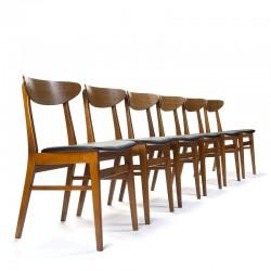 Deense Farstrup set van 6 vintage model 210 stoelen