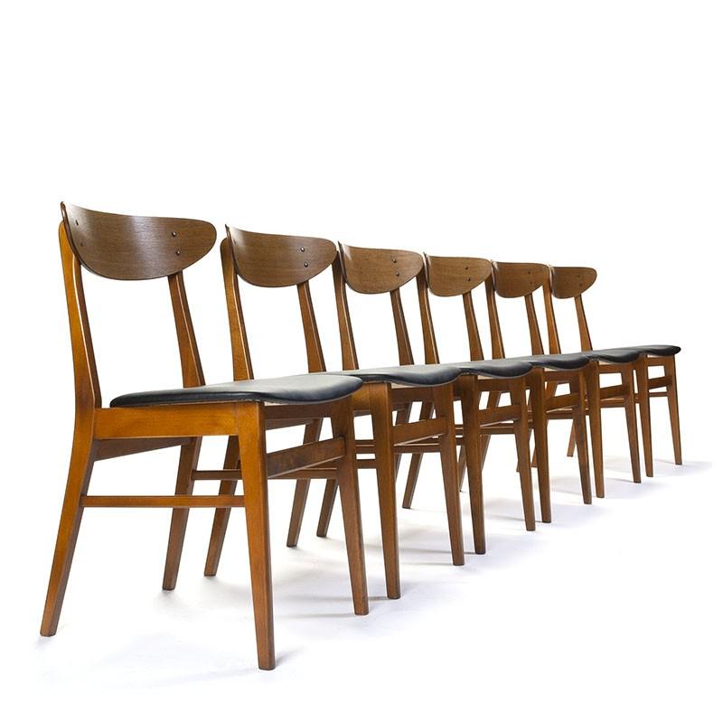 Danish Farstrup set of 6 vintage model 210 chairs