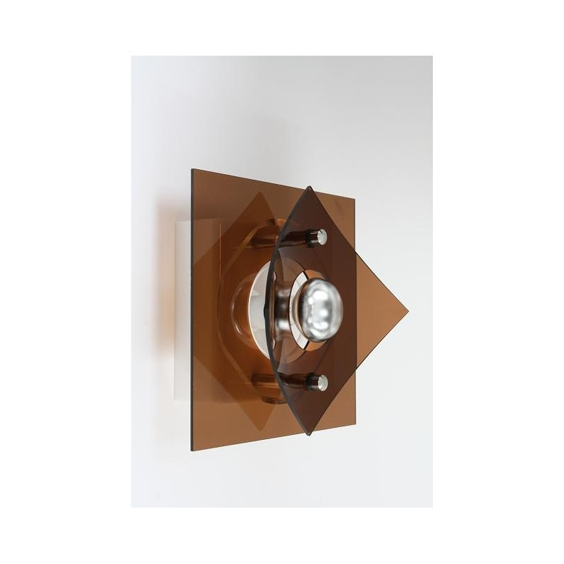 Plexiglass wall lamp 1970's